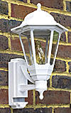 100w BC Coach Lantern White with PIR