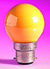 15w BC Orange Golf Ball Lamp