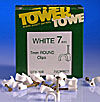 7mm² Round Cable Clip - White