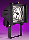 500w Enclosed Halogen Floodlight IP54 - Black