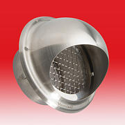 4 Inch Stainless Steel Round Cowl c/w Internal Mesh