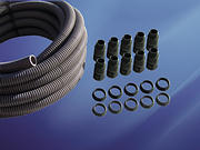 20mm Flexible Conduit Pack c/w 10 Glands - Grey