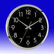 Orion Quartz Wall Clock Black / Chrome