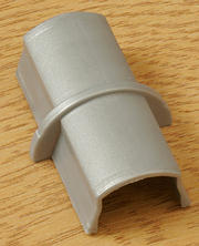 16mm x 8mm Plain Coupler  - Aluminium