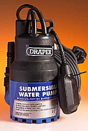 Submersible Pump 1600 Gals per Hour + Float Switch