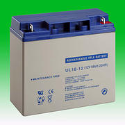 12 volt 18.0 Ah Alarm Battery