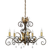 Amarilli  5 Lamp Chandelier - Bronze/Gold