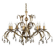 Lily 8 Lamp Chandelier - Metal Bronze Patina