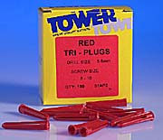 Plastic Wall plugs Red for 6 - 10 Screws