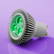 4.9 Watt 38° GU10 High Power LED Lamp 240v -  Green - V9