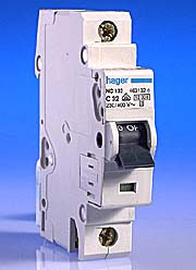 40 Amp Hager MCB C Type - Motor Rated