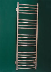 Curved Stainless Steel Towel Rail - 400mm