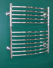 Curved Stainless Steel Towel Rail - 620mm
