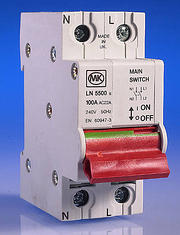 100 Amp Main Switch for Sentry Consumer Unit