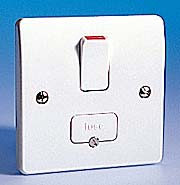 13 Amp Switched Fused Spur - White