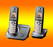 Panasonic KX-TG6612EM Cordless DECT Phone  - Twin Pack