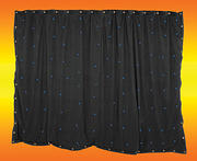 3 x 2m Black Starcloth with 96 Blue LEDs