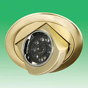 Downlight Day / Night CCTV Camera Brass