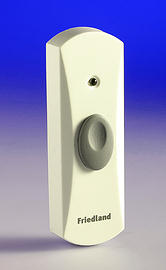 Evo Wire Free Door Bell Push  - White