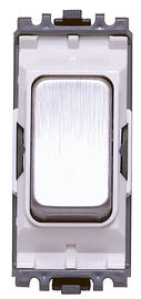 20 Amp Intermediate Grid Switch - Brushed Stainless Steel