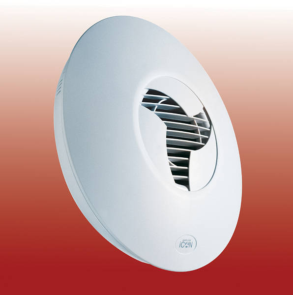 Airflow Icon 60 Low Profile Extractor Fan White