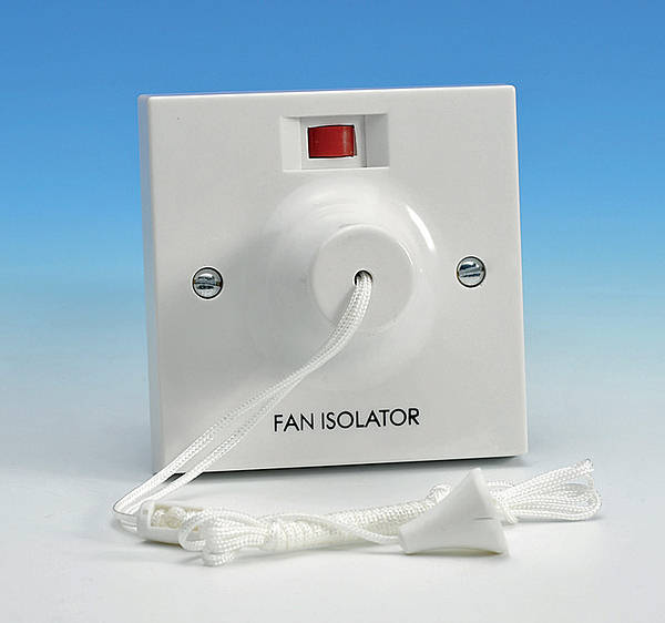 3 Pole Fan Isolator Ceiling Pull Cord Switch