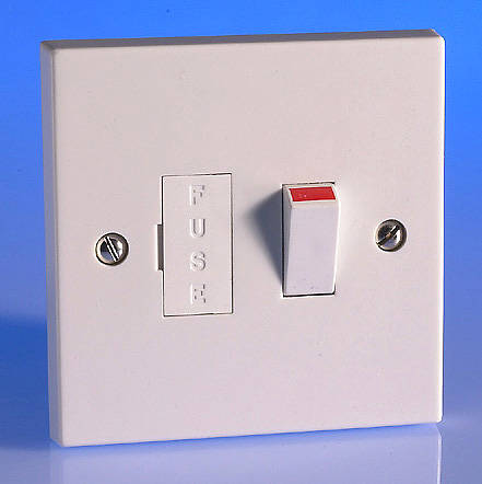 13 Amp Switched Fused Spur With Flex Outlet White