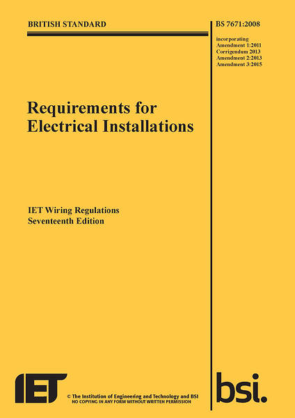 17th Edition Wiring Regulations Bs7671 3rd Amendment