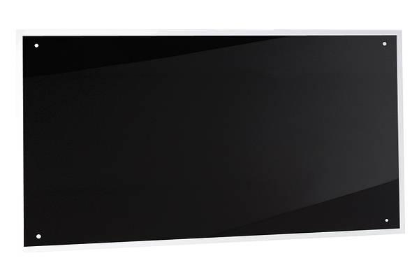 product photo description 100cm black glass splashback - Black Glass