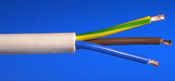White 3 Core Flexible Cables Flex