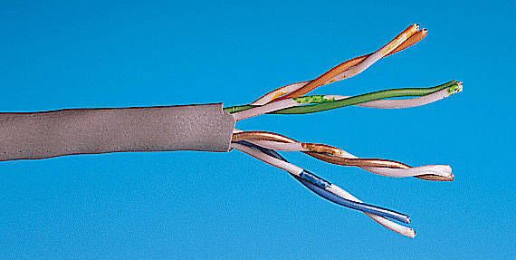 Computer Network Cables Cat5e Cut To Length And Made Up