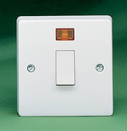 32 Amp Dp Switch C W Neon Sq
