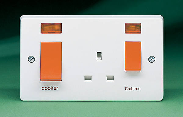 45 Amp Cooker Socket Control Unit C  W Neon