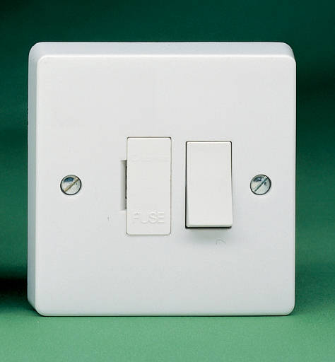 13 Amp Switched Fused Spur With Flex Outlet