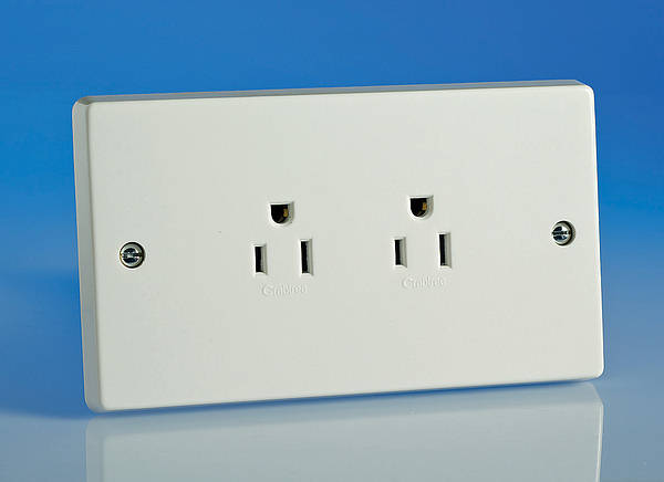 15a American Standard Twin Socket White