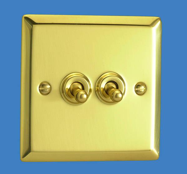 2 gang 2 way toggle light switch