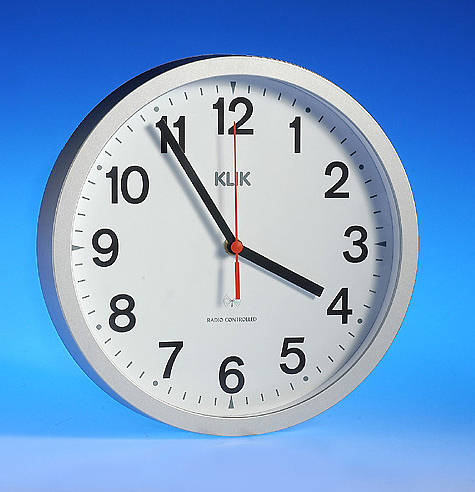10 Silver Radio Controlled Wall Clock With Msf