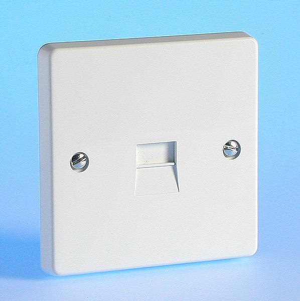 Master Telephone Socket White