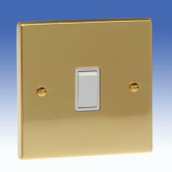 1 Gang Intermediate Light Switch Edwardian Brass