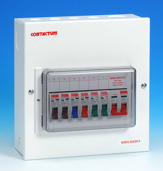 6 Way Metal Consumer Unit