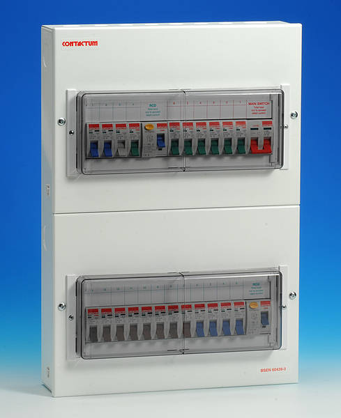 22 Way Metal Split Load Consumer Unit 80 Amp Rcd