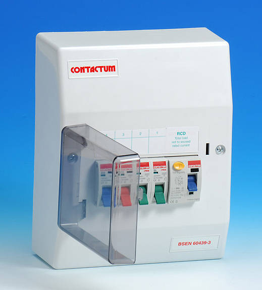 4 Way Insulated Consumer Unit 80 Amp Rcd