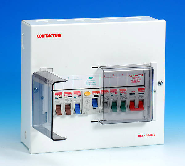 6 Way Metal Split Load Consumer Unit