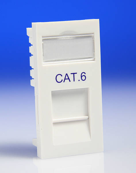 Rj45 Cat6 Euro Module White Idc