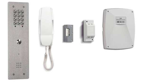 6 Way Vandal Resistant Audio Door Entry With Coded Keypad Access