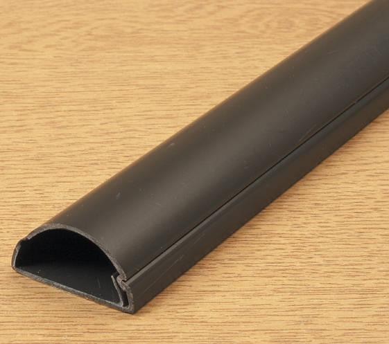 D Line Mini Trunking 16mm X 8mm Black Self Adhesive