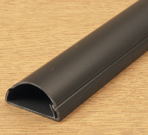 How To Cut Skirting Board >> D-Line Mini Trunking 30mm x 15mm Black Self Adhesive
