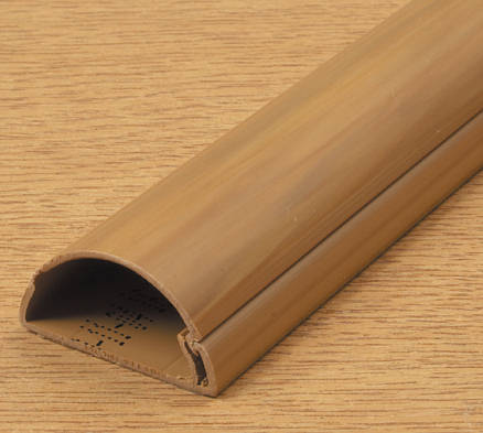 D Line Mini Trunking 50mm X 25mm Wood Self Adhesive