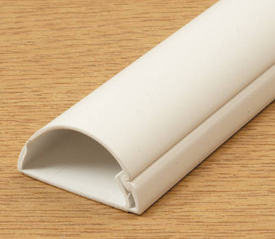 D Line Mini Trunking 40mm X 20mm White Self Adhesive