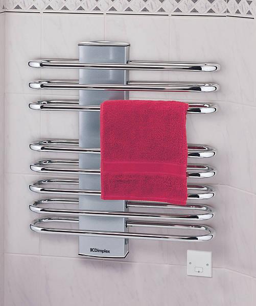Dimplex 250w Chrome Electric Towel Rail: 350w Ladder Towel Rail